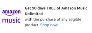 90 Days Free of Amazon Music Unlimited Claim Now!