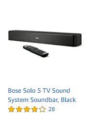 Bose Solo 5 TV Sound System Soundbar - Black